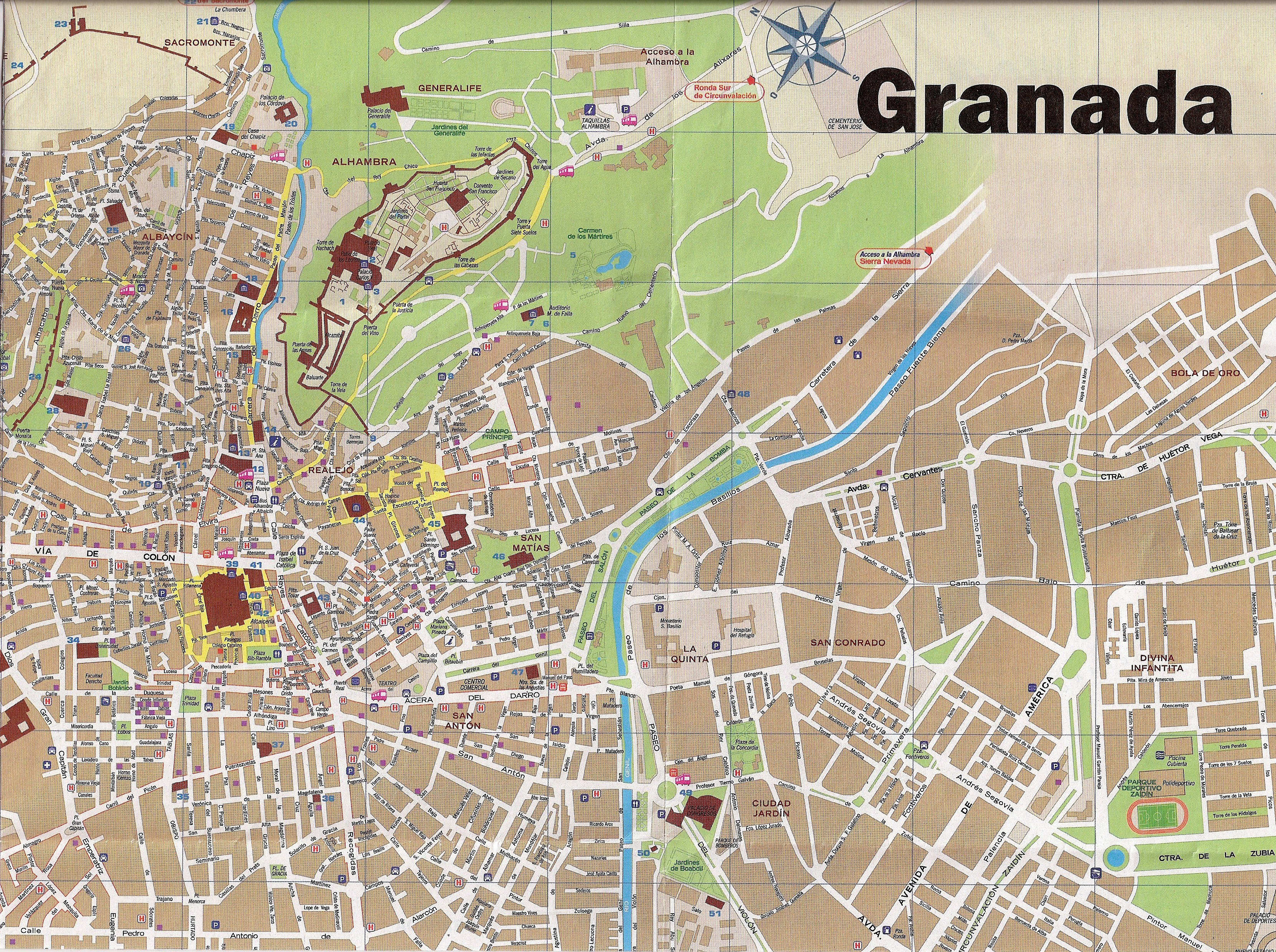 Map Of Spain Granada.Map Of Spain Granada